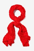 Oslo Sparkle Solid Red Knit Scarf by Scarves.com