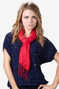 Razzle Dazzle Red Scarf by Scarves.com