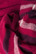 Red Atlanta Stripe Scarf by Scarves.com
