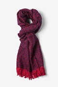 Red Baltimore Heathered Scarf by Scarves.com