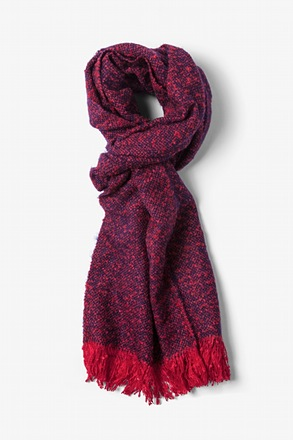 Red Baltimore Heathered Scarf