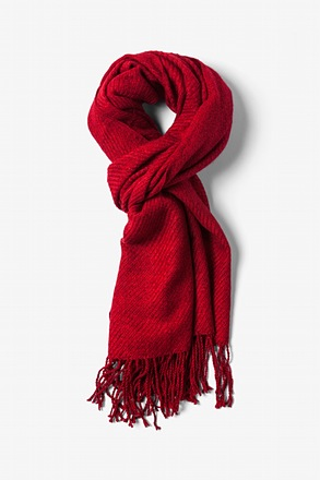 Red Calgary Scarf
