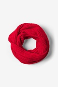 Red Concord Knit Infinity Scarf Photo (0)