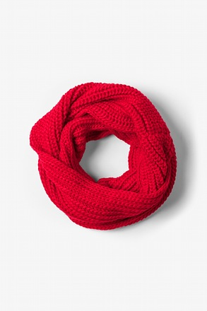 Red Concord Knit Infinity Scarf