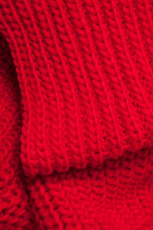 Red Concord Knit Infinity Scarf Photo (1)