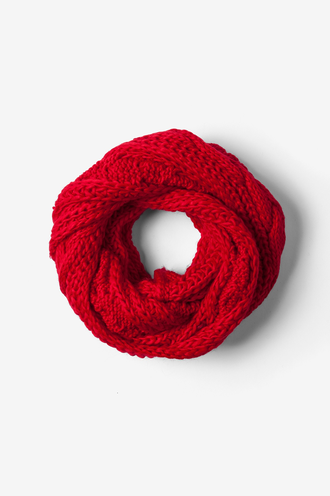 Red Acrylic Geneva Cable Knit Infinity Scarf Scarves Com