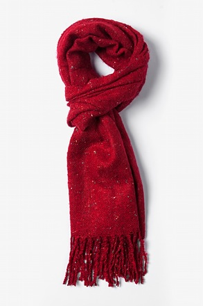 Red Victoria Speckled Scarf