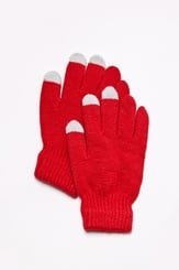 Red Acrylic Texting Gloves