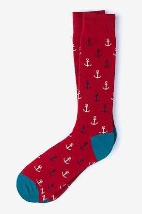 Anchor Red Sock