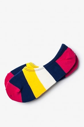Burbank Color Block No-Show Sock