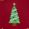 Red Carded Cotton Christmas Tree Sock