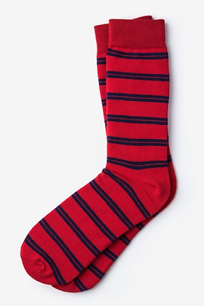 _Culver Stripe Red Sock_