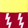 Red Carded Cotton Lightning Bolt