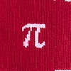 Red Carded Cotton Pi Symbols