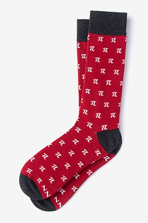 Pi Symbols Red Sock