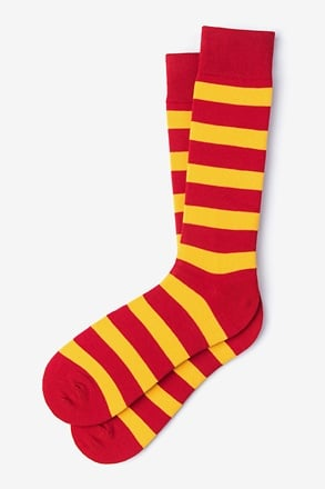 _Rugby Stripe Red Sock_