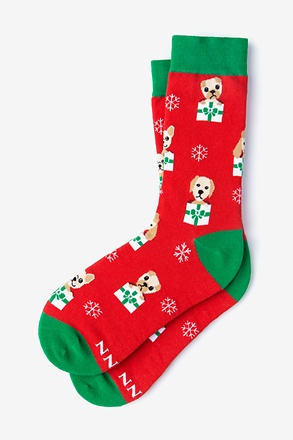 _Santa's Lil' Yelpers Red Women's Sock_