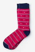 Red Carded Cotton Star Spangled Sock
