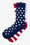 Red Carded Cotton Stars & Stripes Sock