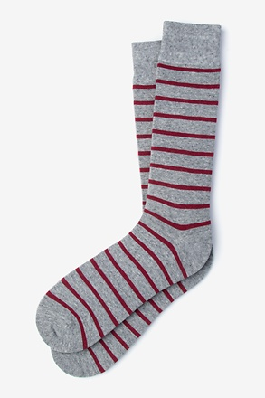 _Virtuoso Stripe Red Sock_