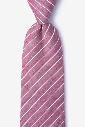 Ash Red Extra Long Tie