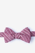 Red Cotton Ash Self-Tie Bow Tie