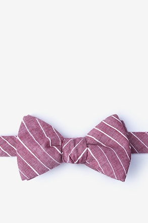 _Ash Red Self-Tie Bow Tie_
