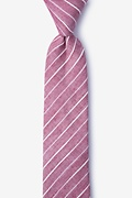 Red Cotton Ash Skinny Tie