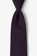 Red Cotton Ashland Extra Long Tie