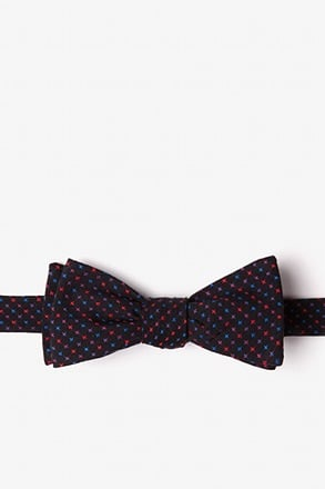 Ashland Red Skinny Bow Tie