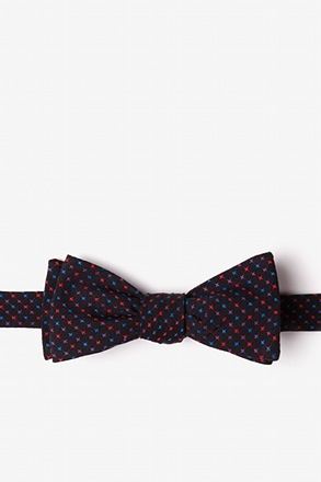 _Ashland Red Skinny Bow Tie_
