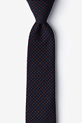 Red Cotton Ashland Skinny Tie