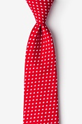 Red Cotton Bandon Extra Long Tie