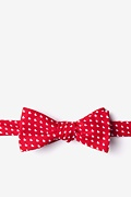 Red Cotton Bandon Skinny Bow Tie