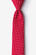 Red Cotton Bandon Skinny Tie