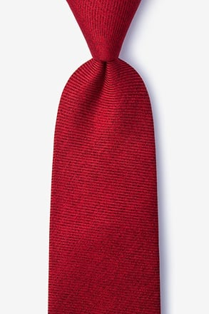 _Beau Red Extra Long Tie_