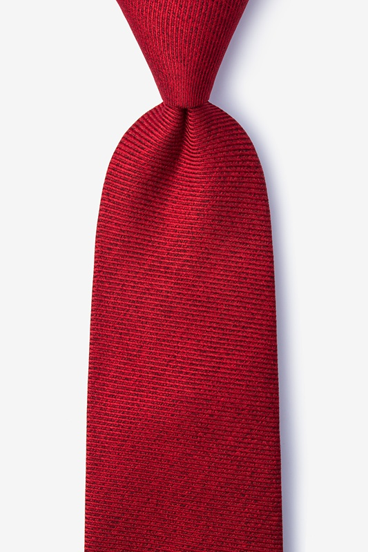 Beau Red Extra Long Tie Photo (0)