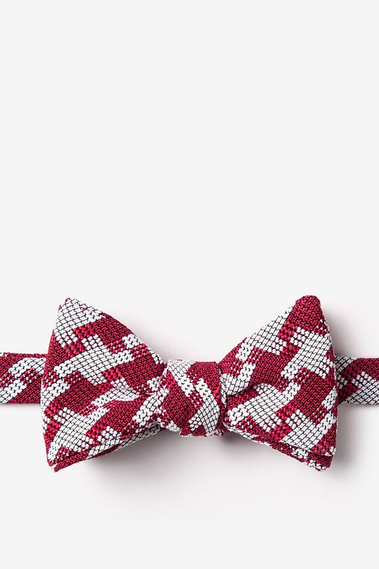 Buckeye Thick Red Self-Tie Bow Tie Photo (0)