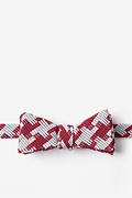 Red Cotton Buckeye Thick Skinny Bow Tie