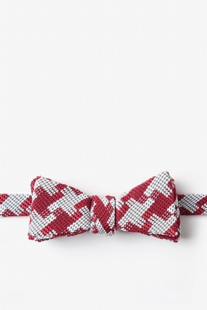 _Buckeye Thick Red Skinny Bow Tie_