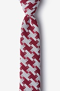 Red Cotton Buckeye Thick Skinny Tie