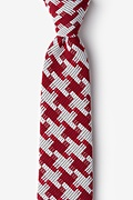 Red Cotton Buckeye Thick Tie