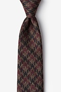 Red Cotton Chandler Extra Long Tie