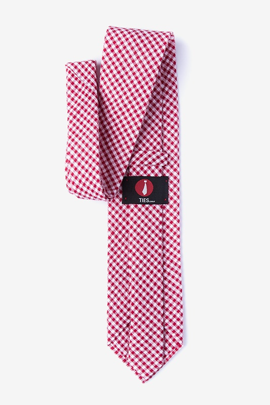 Chardon Red Extra Long Tie Photo (1)