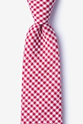 Red Cotton Chardon Extra Long Tie