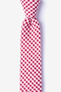 Red Cotton Chardon Skinny Tie