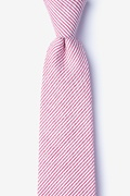 Red Cotton Cheviot Extra Long Tie