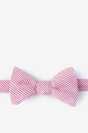_Cheviot Red Self-Tie Bow Tie_