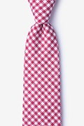 Red Cotton Clayton Extra Long Tie