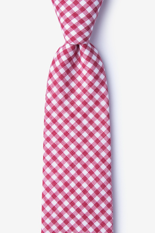 Clayton Red Extra Long Tie Photo (0)